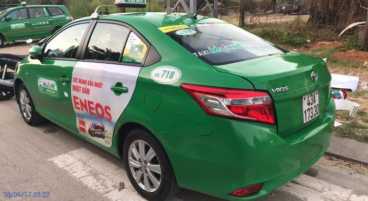 Quảng cáo Eneos trên xe Taxi
