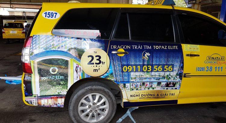 quảng cáo trên ô tô