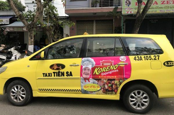báo giá quảng cáo taxi tiên sa