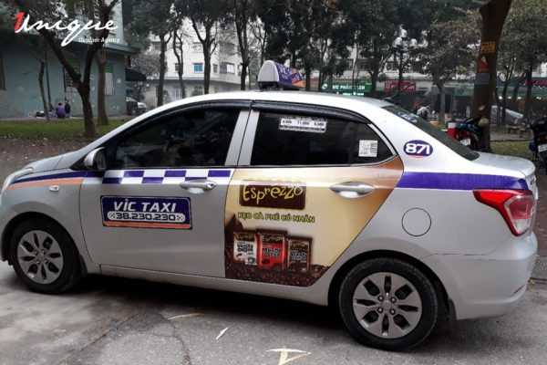 báo giá quảng cáo taxi vic