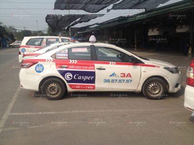 Casper quảng cáo trên taxi
