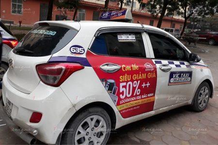 Lock&Lock quảng cáo trên taxi