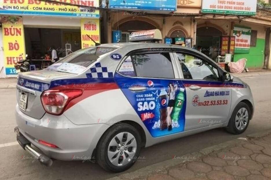quảng cáo taxi ở bắc ninh