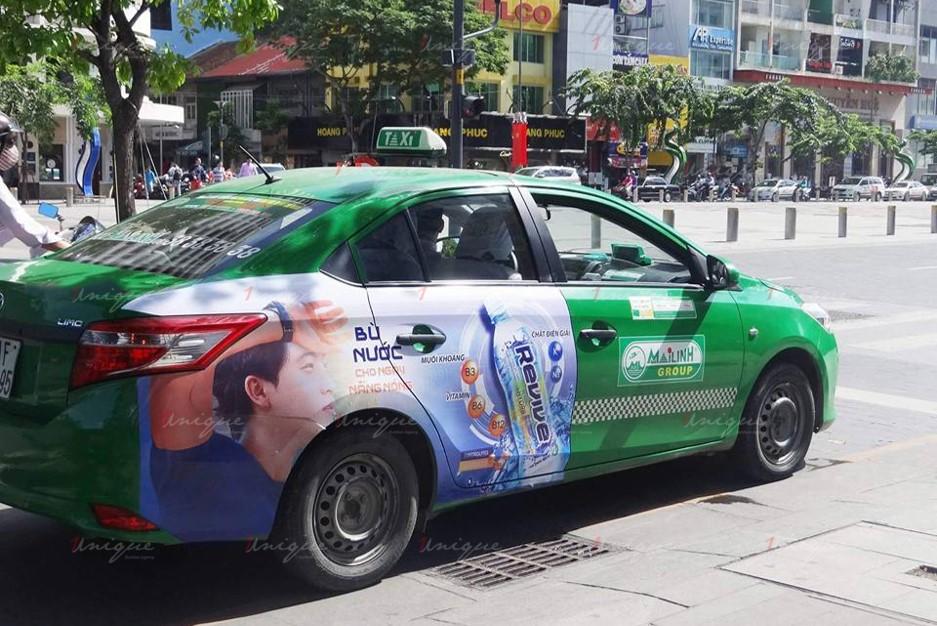quảng cáo taxi ở tiền giang