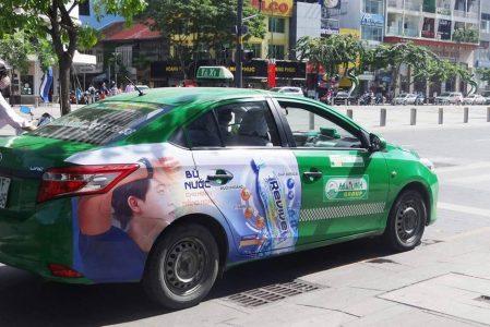 quảng cáo taxi tại tiền giang