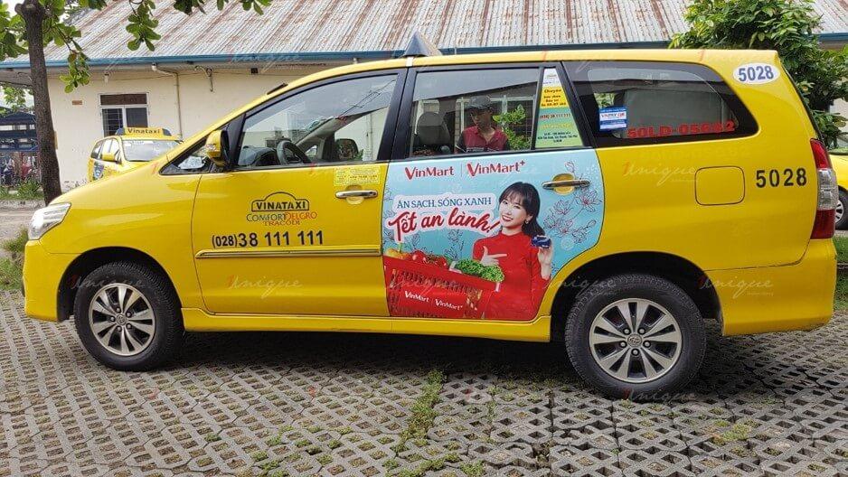 quảng cáo vina taxi