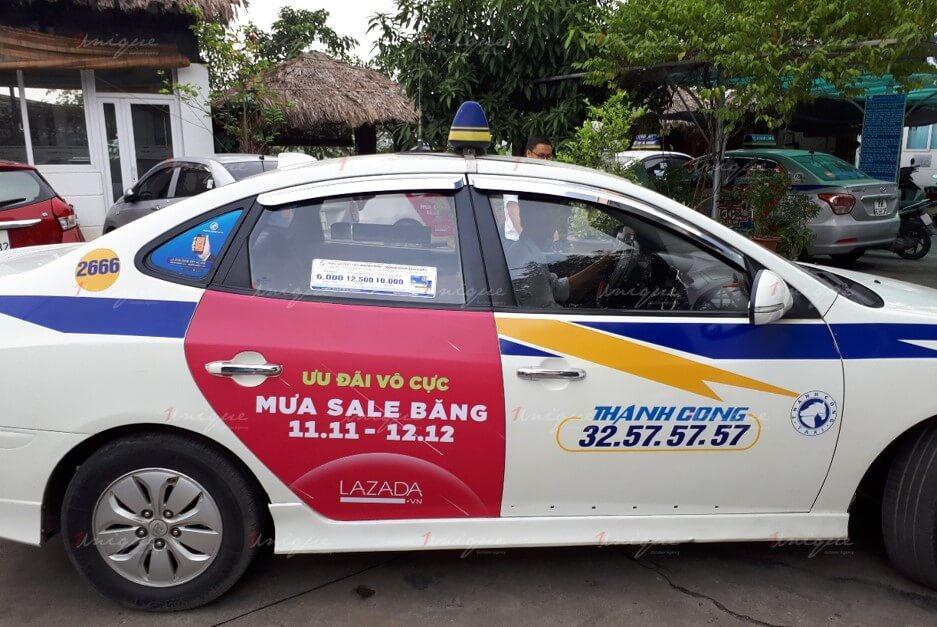 quảng cáo taxi thành công