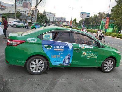 Bất động sản C-Skyview quảng cáo trên taxi Mai Linh