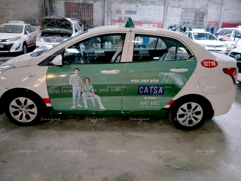Thời trang Catsa triển khai quảng cáo trên taxi Vinasun