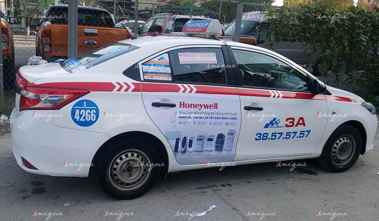 Chiến dịch quảng cáo trên taxi của quạt điều hòa Honeywell