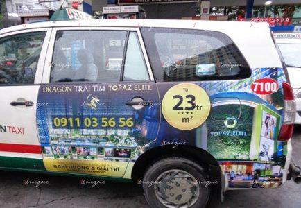 Phủ sóng thương hiệu với chiến dịch quảng cáo taxi của Topaz Elite